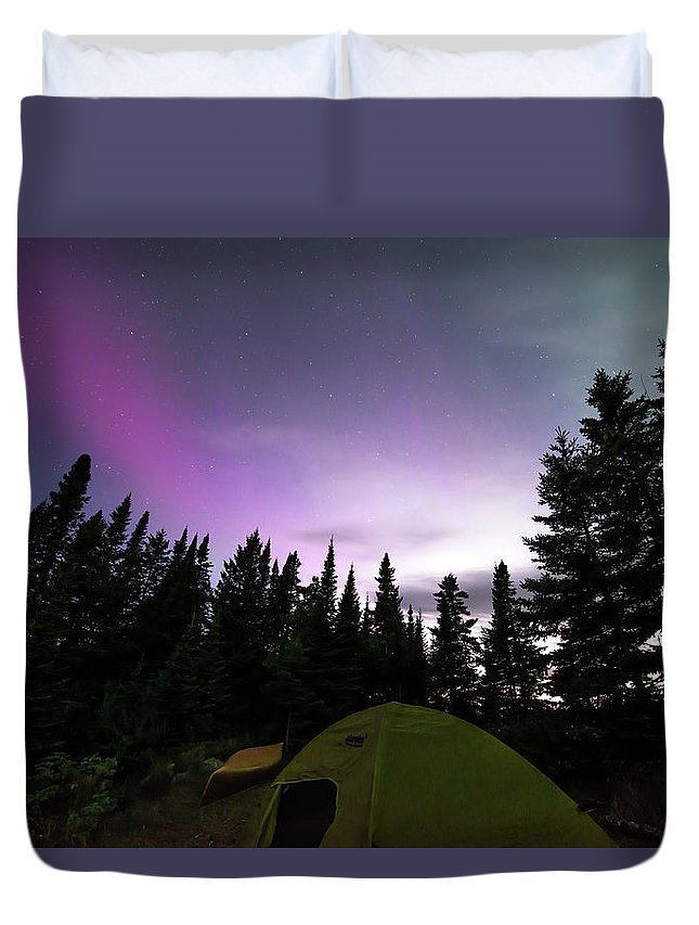 Isle Royale Duvet Cover featuring the photograph Isle Royale Pickerel Cove Nl by Shane Mossman