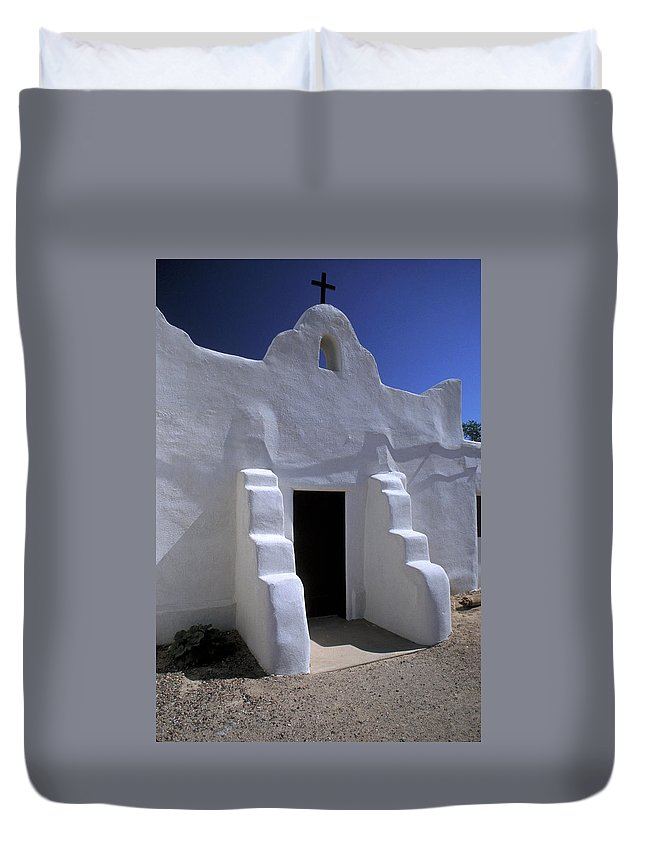 Adobe Duvet Cover featuring the photograph Isleta by Jerry McElroy