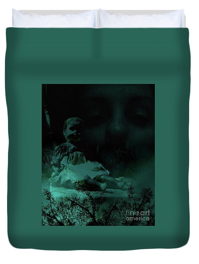 Doll Duvet Cover featuring the photograph Isolation From Within by Maggie Cersosimo