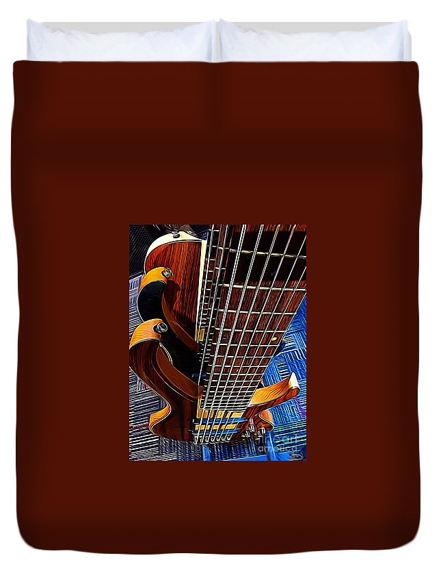 Bass Duvet Cover featuring the digital art It Is All About That Bass by Sue M Marshall
