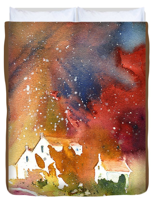 Watercolour Duvet Cover featuring the painting It Is Always Snowing Somewhere 01 by Miki De Goodaboom
