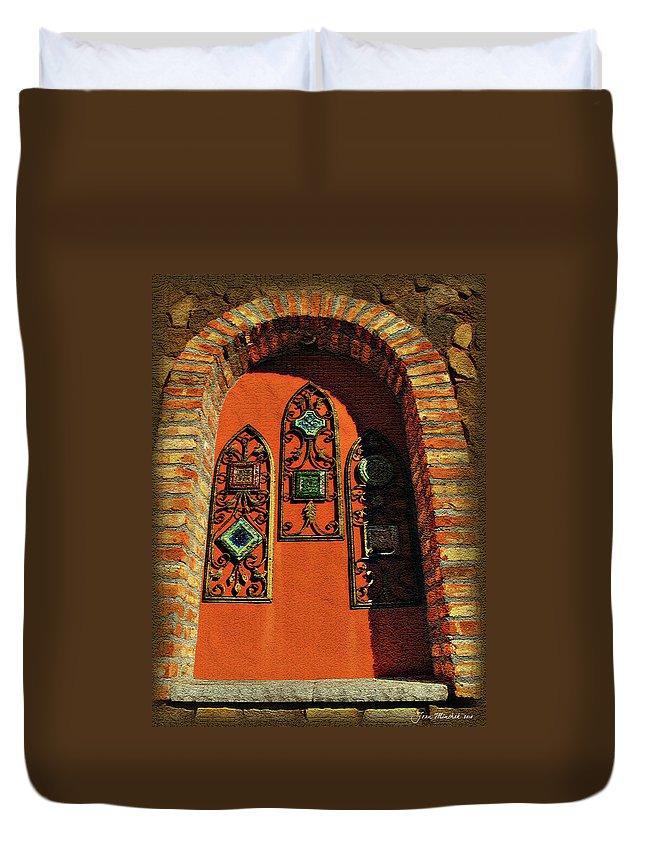Window Duvet Cover featuring the digital art Italian Window by Joan Minchak