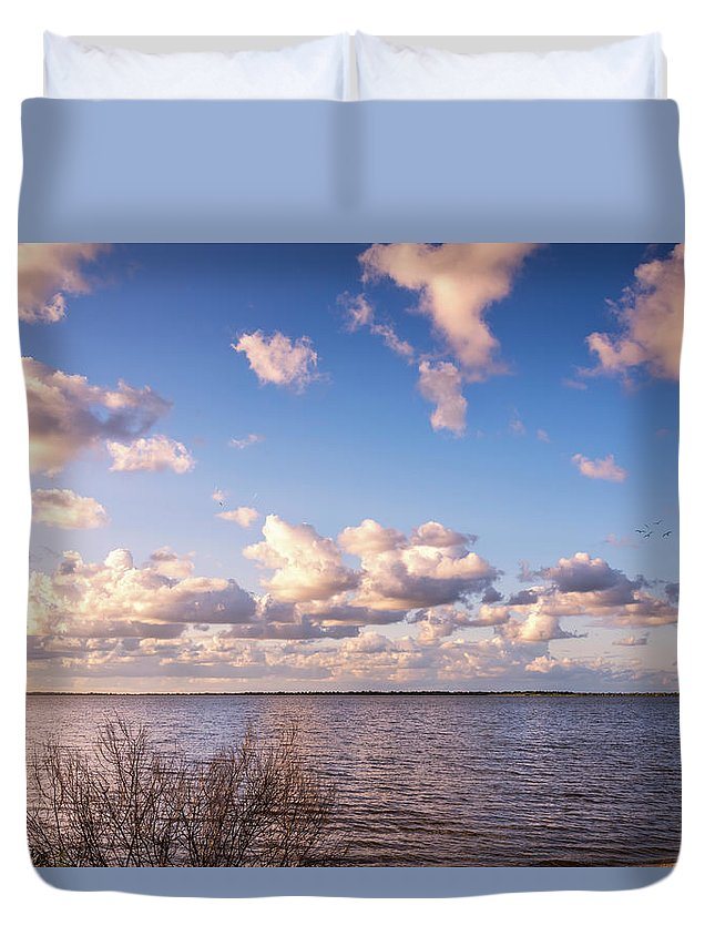Florida Duvet Cover featuring the photograph It's A Beautiful Day by Louise Hill