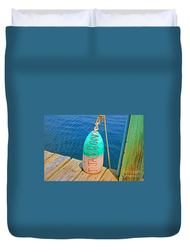 Water Duvet Cover featuring the photograph Its A Buoy by Debbi Granruth