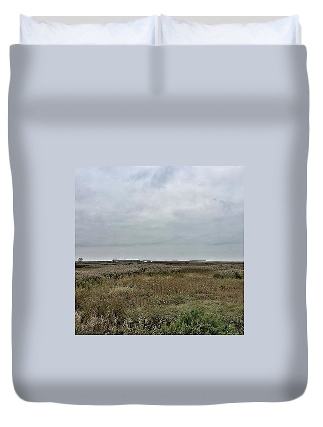 Natureonly Duvet Cover featuring the photograph It's A Grey Day In North Norfolk Today by John Edwards