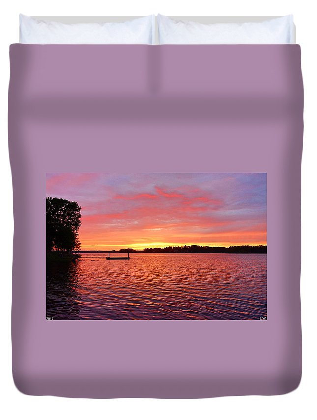 It's A New Day Duvet Cover featuring the photograph It's A New Day by Lisa Wooten