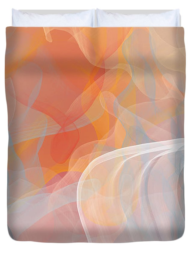 Flow Duvet Cover featuring the digital art It's Five O'clock On A Friday by Constance Krejci