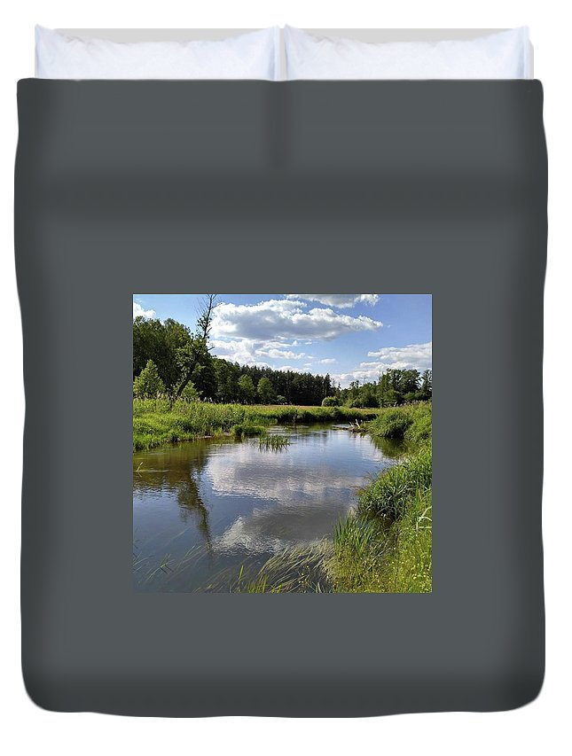 Poland Duvet Cover featuring the photograph It's So Calming Here In Odrzywol by Arletta Cwalina