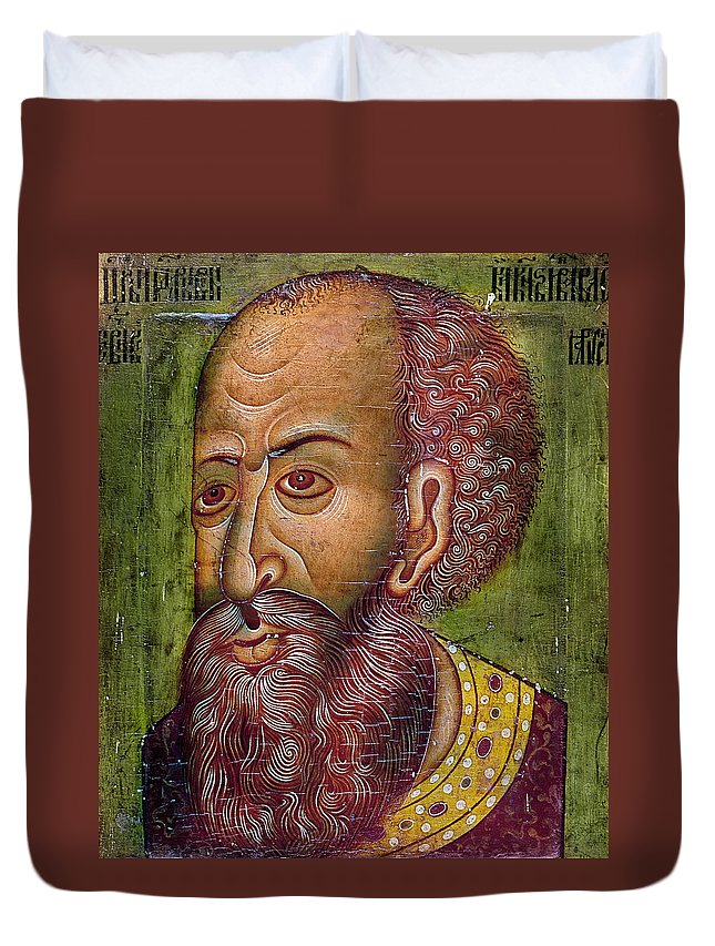 16th Century Duvet Cover featuring the photograph Ivan Iv Vasilevich by Granger
