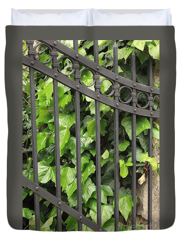 Ivy And Iron Gate Duvet Cover featuring the photograph Ivy And Gate by Carol Groenen