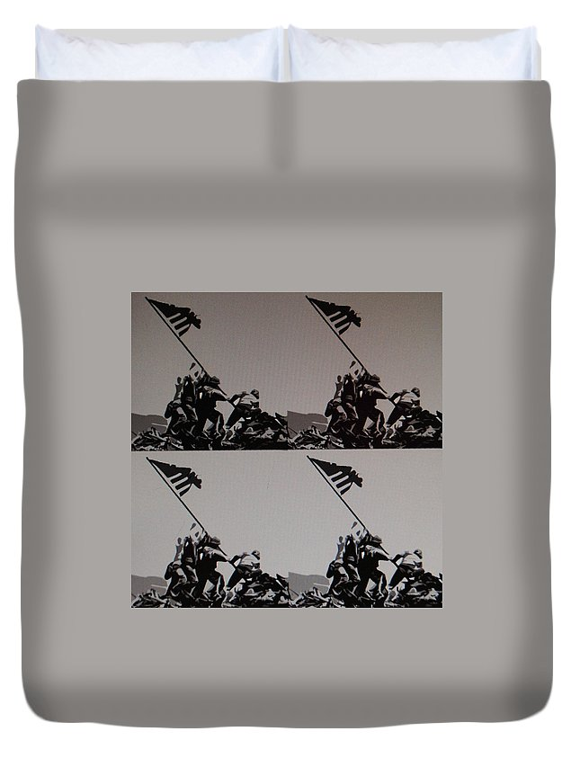 Pop Art Duvet Cover featuring the photograph Iwo Jima by Rob Hans