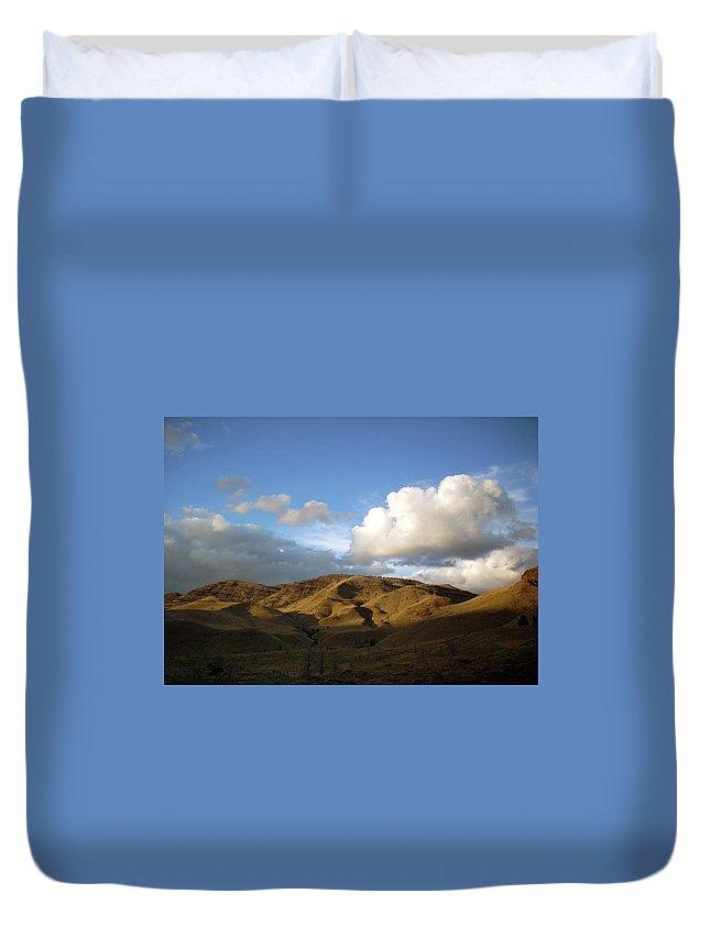 Sunset Duvet Cover featuring the photograph J D Sunset 2 by Sara Stevenson