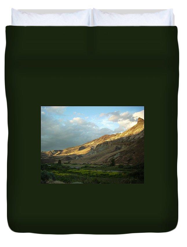 Sunset Duvet Cover featuring the photograph J D Sunset by Sara Stevenson