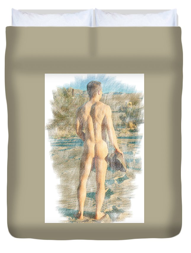 Male Duvet Cover featuring the photograph Jack B. 3--2 by Andy Shomock