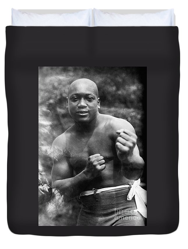 1910s Duvet Cover featuring the photograph Jack Johnson (1878-1946) by Granger