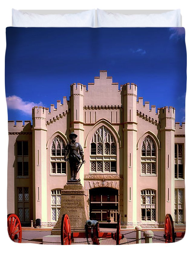 Virginia Military Institute Duvet Cover featuring the photograph Jackson Arch - V M I by Mountain Dreams