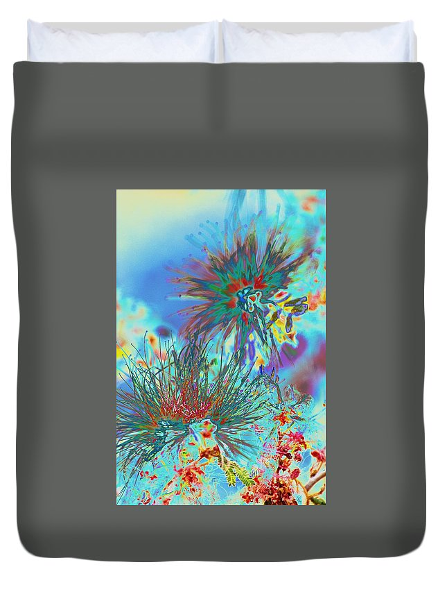 Weeds Duvet Cover featuring the photograph Jackson Pollok's Weeds by Richard Henne