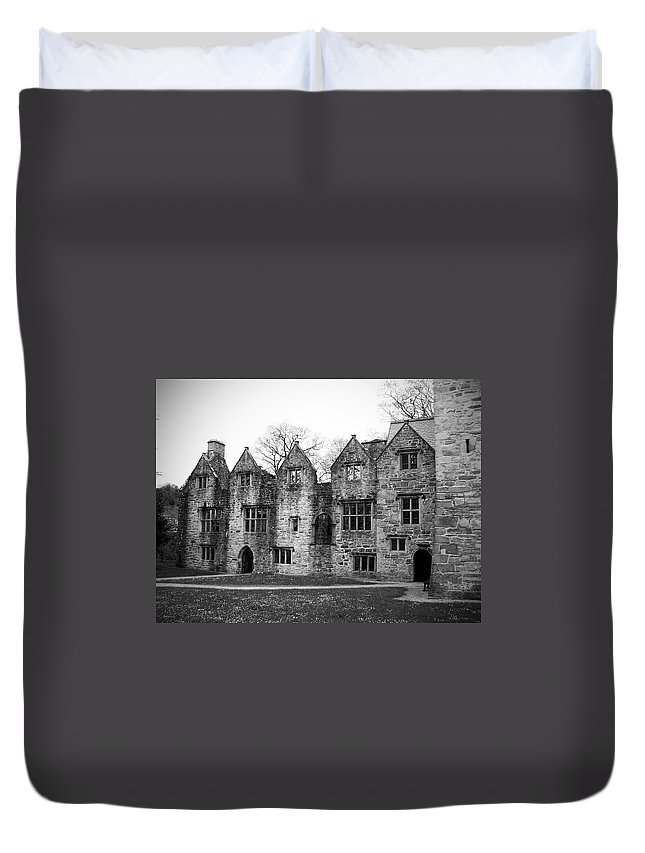 Irish Duvet Cover featuring the photograph Jacobean Wing At Donegal Castle Ireland by Teresa Mucha