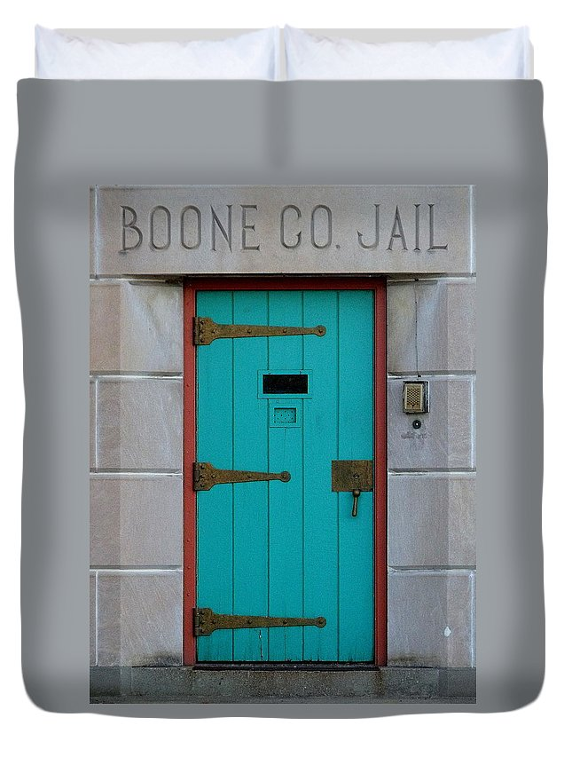 Still Life Duvet Cover featuring the photograph Jail For Sale by Ed Smith