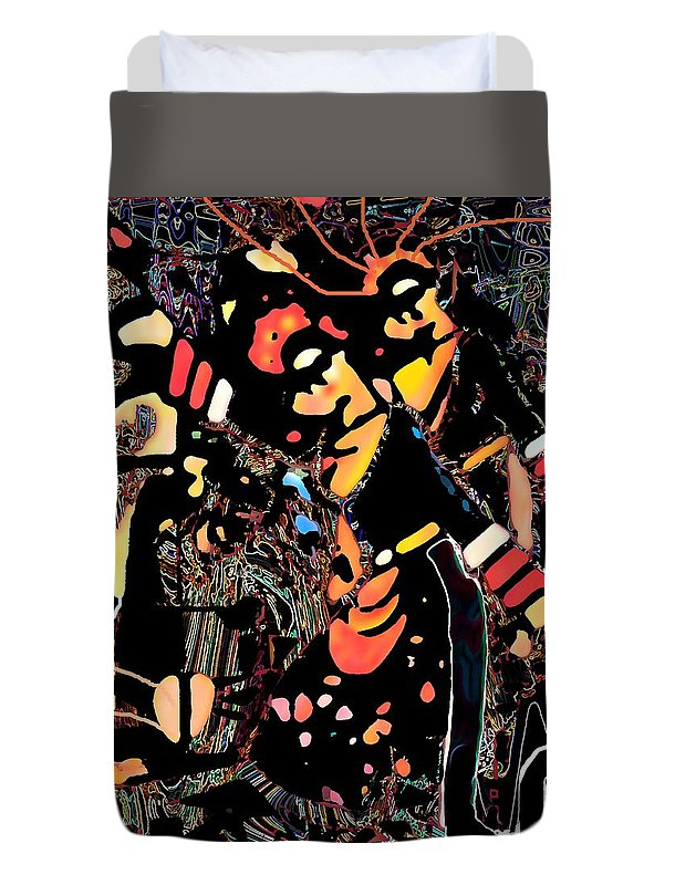 Jaipong Dance Duvet Cover featuring the digital art Jaipong Dance by Darminto M Sudarmo
