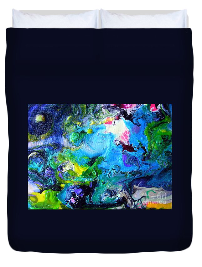 Art Duvet Cover featuring the painting Jamaica Nights by Dawn Hough Sebaugh