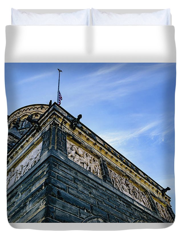 Burial Duvet Cover featuring the photograph James A. Garfield Memorial by Cityscape Photography