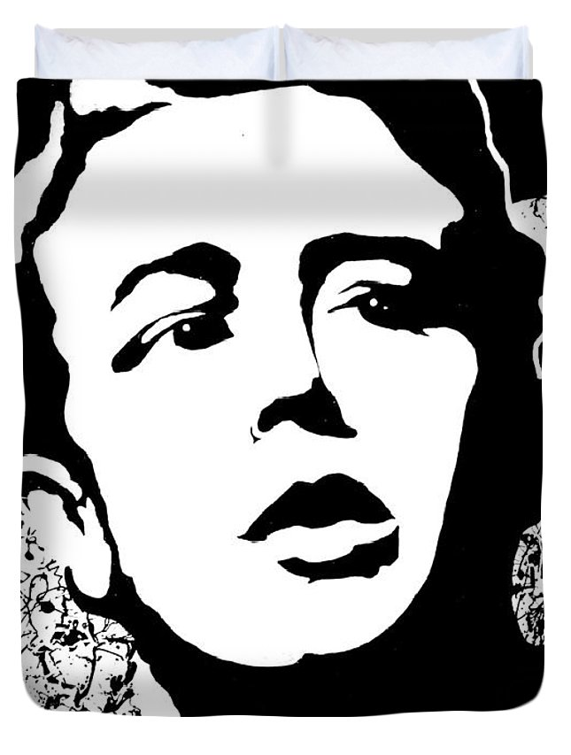 James Dean Duvet Cover featuring the painting James Dean by Curtiss Shaffer