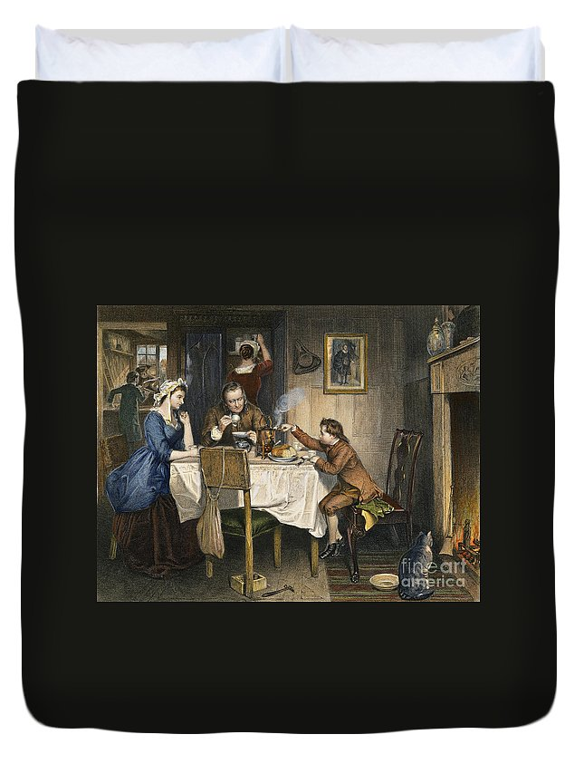 18th Century Duvet Cover featuring the photograph James Watt (1736-1819) by Granger