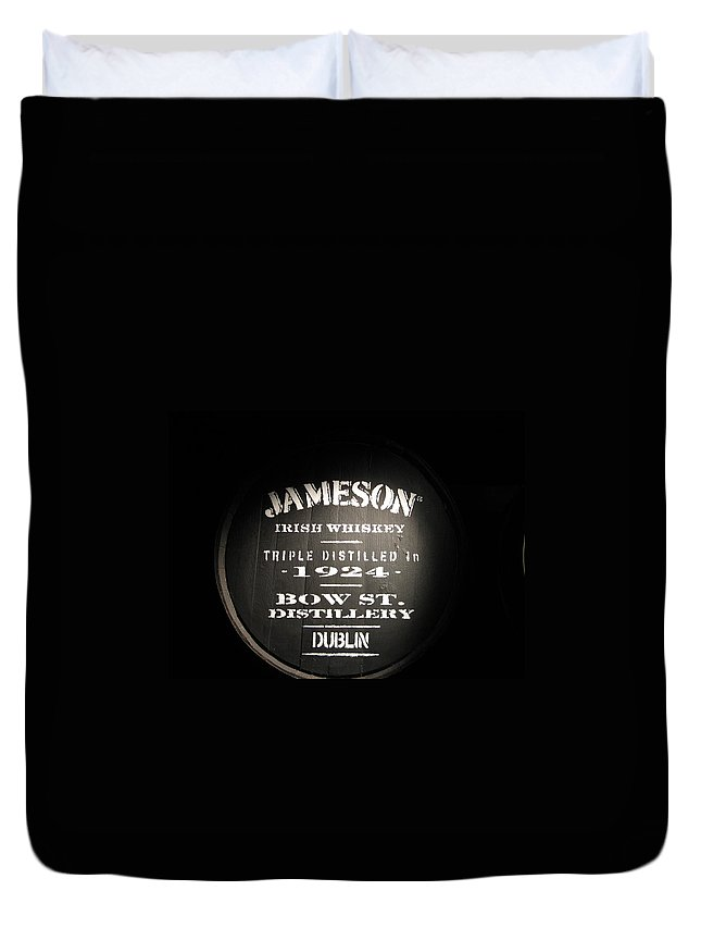 Jameson Duvet Cover featuring the photograph Jameson by Kelly Mezzapelle