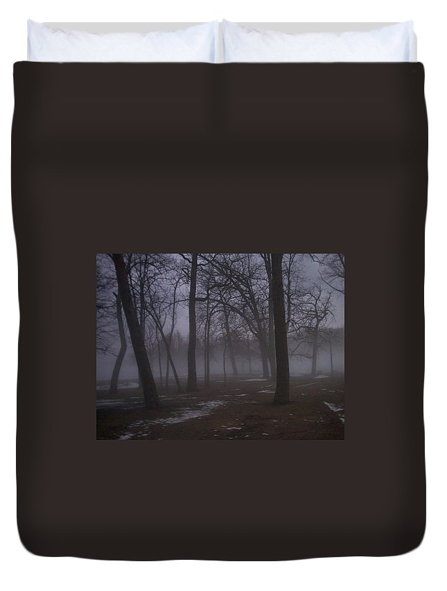 January Duvet Cover featuring the photograph January Fog 2 by Anita Burgermeister
