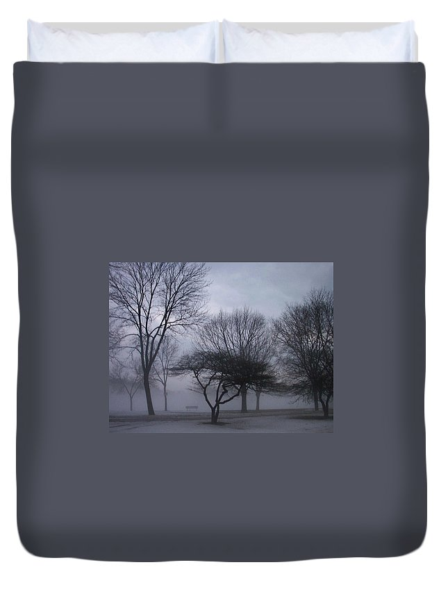 January Duvet Cover featuring the photograph January Fog 6 by Anita Burgermeister
