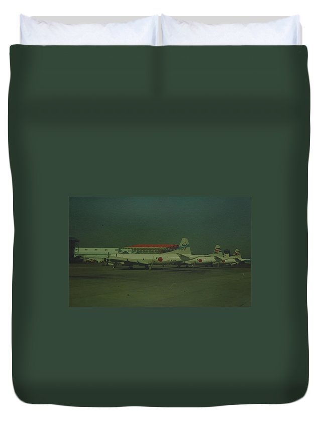 Airplane Duvet Cover featuring the photograph Japanese Airforce by Rob Hans