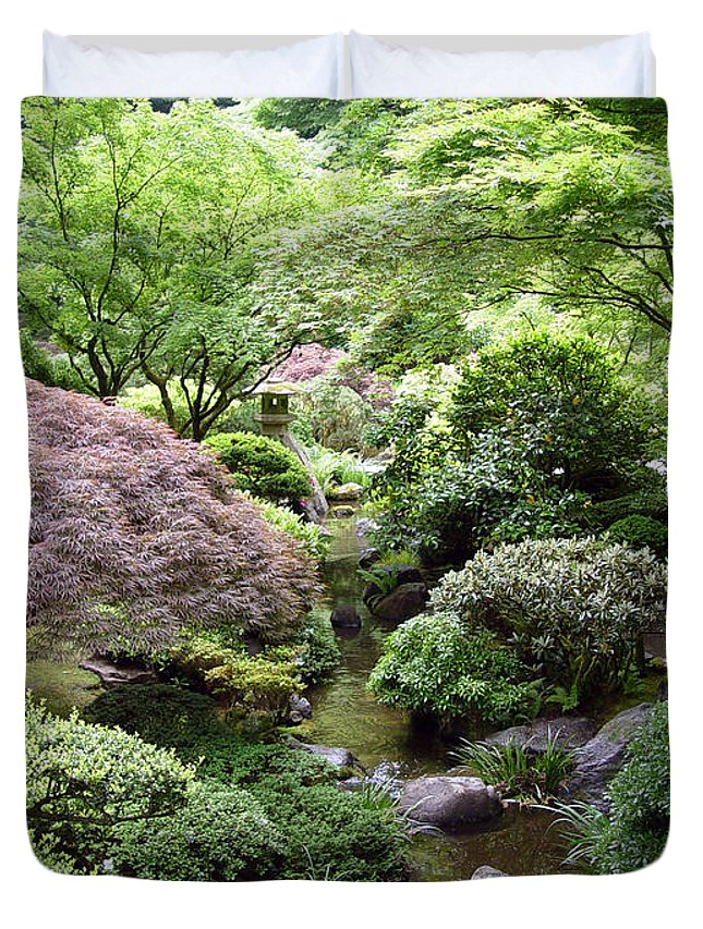 Photography Duvet Cover featuring the photograph Japanese Garden by Loretta Luglio