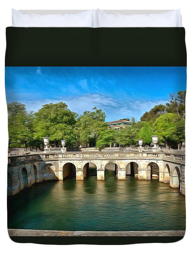 Garden Duvet Cover featuring the photograph Jardins De La Fontaine Nimes by Scott Carruthers