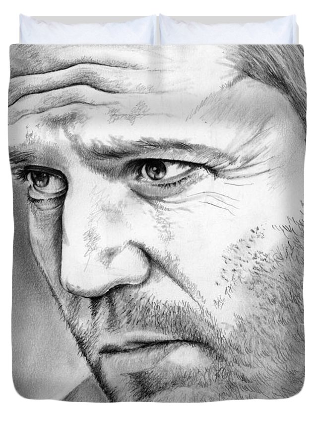 f3a2a8dd Jason Statham Duvet Cover featuring the drawing Jason Statham by Greg Joens