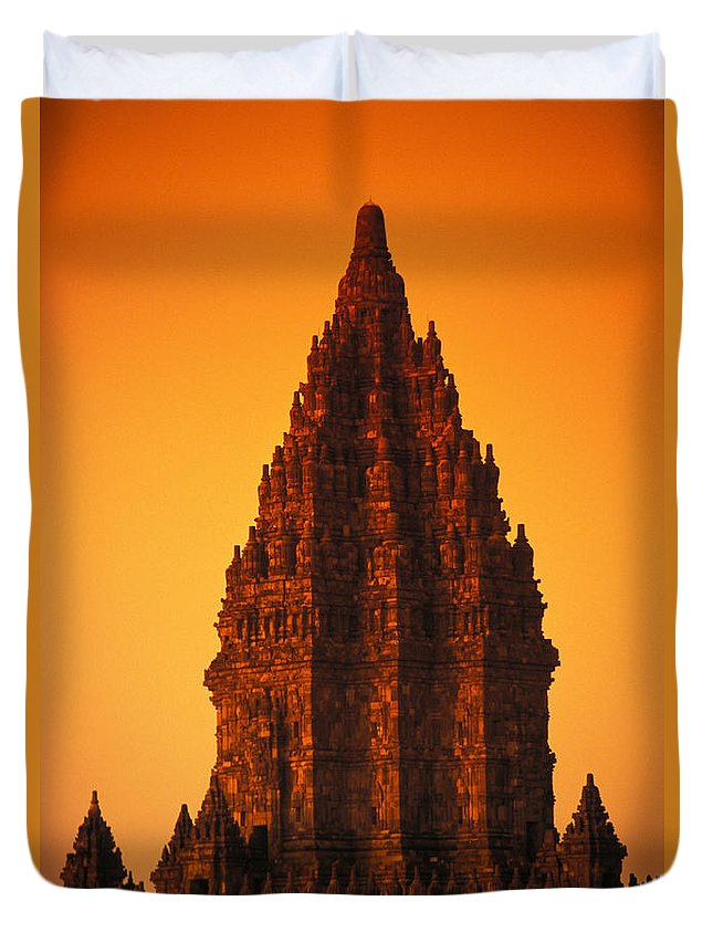 Ancient Duvet Cover featuring the photograph Java, Prambanan by Gloria & Richard Maschmeyer - Printscapes
