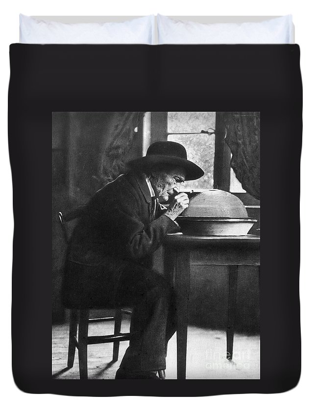 19th Century Duvet Cover featuring the photograph Jean Henri Fabre by Granger