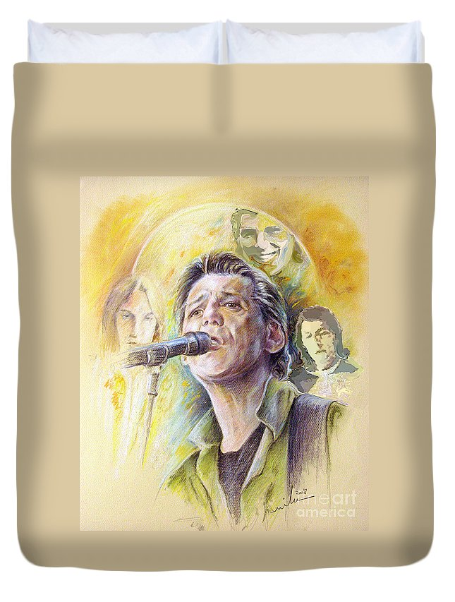 Jeff Christie Duvet Cover featuring the painting Jeff Christie by Miki De Goodaboom