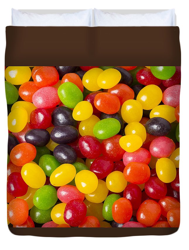 Food Duvet Cover featuring the photograph Jelly Beans by John Trax