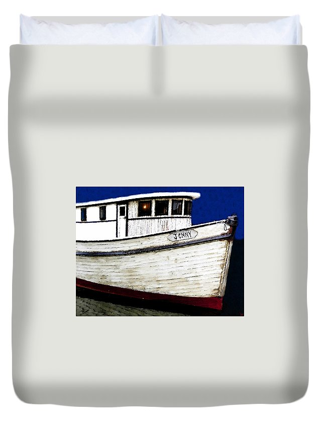 Art Duvet Cover featuring the painting Jenny by David Lee Thompson
