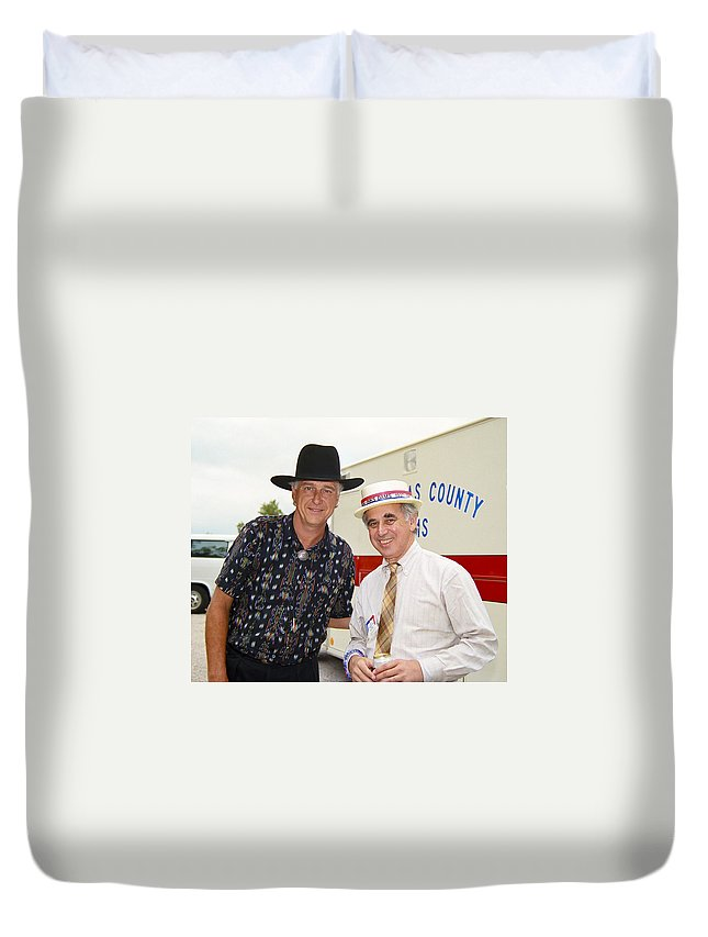 Americana Duvet Cover featuring the photograph Jerry Jeff Walker And S. David Freeman by Marilyn Hunt