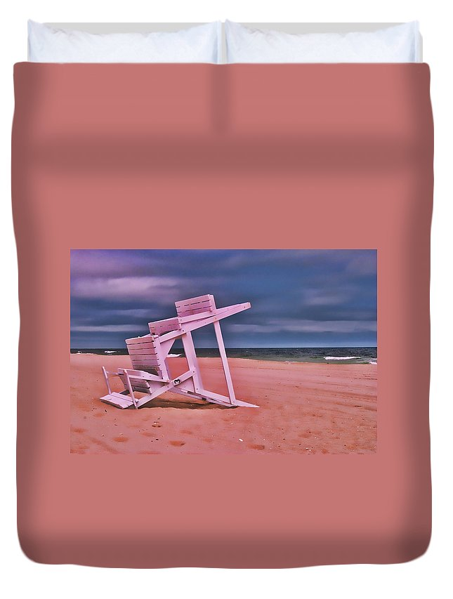 Island Beach State Park Duvet Cover featuring the photograph Jersey Shore 2 by Allen Beatty