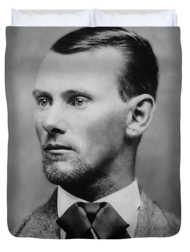 jesse James Duvet Cover featuring the photograph Jesse James -- American Outlaw by Daniel Hagerman