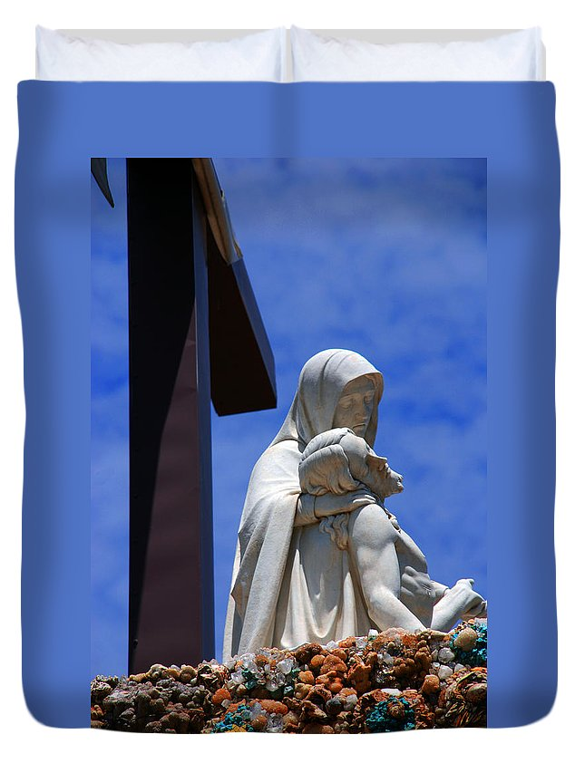 Jesus And Maria Duvet Cover featuring the photograph Jesus And Maria by Susanne Van Hulst