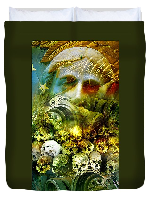 Jesus Duvet Cover featuring the photograph Jesus Wept by Skip Hunt