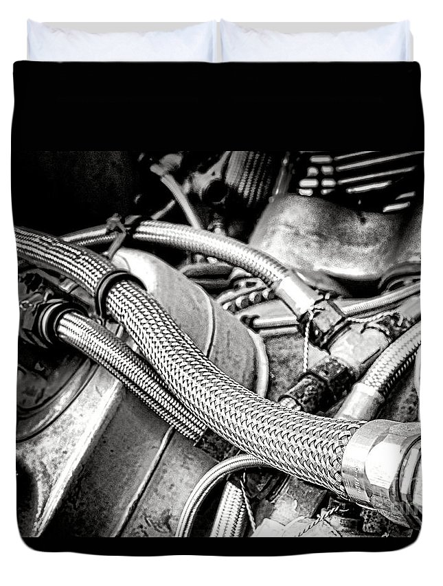 Aviation Duvet Cover featuring the photograph Jet Fuel Line by Olivier Le Queinec