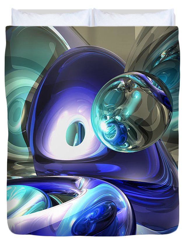 3d Duvet Cover featuring the digital art Jewel Of The Nile Abstract by Alexander Butler