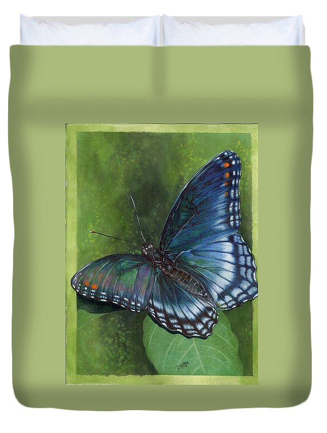 Insects Duvet Cover featuring the mixed media Jewel Tones by Barbara Keith
