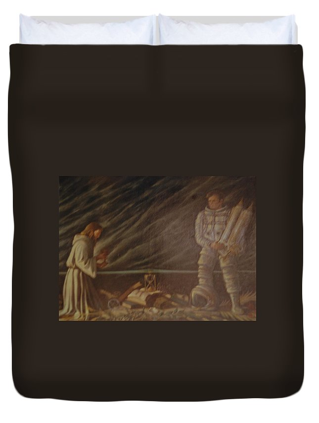Jesus Duvet Cover featuring the photograph Jews In Space by Rob Hans