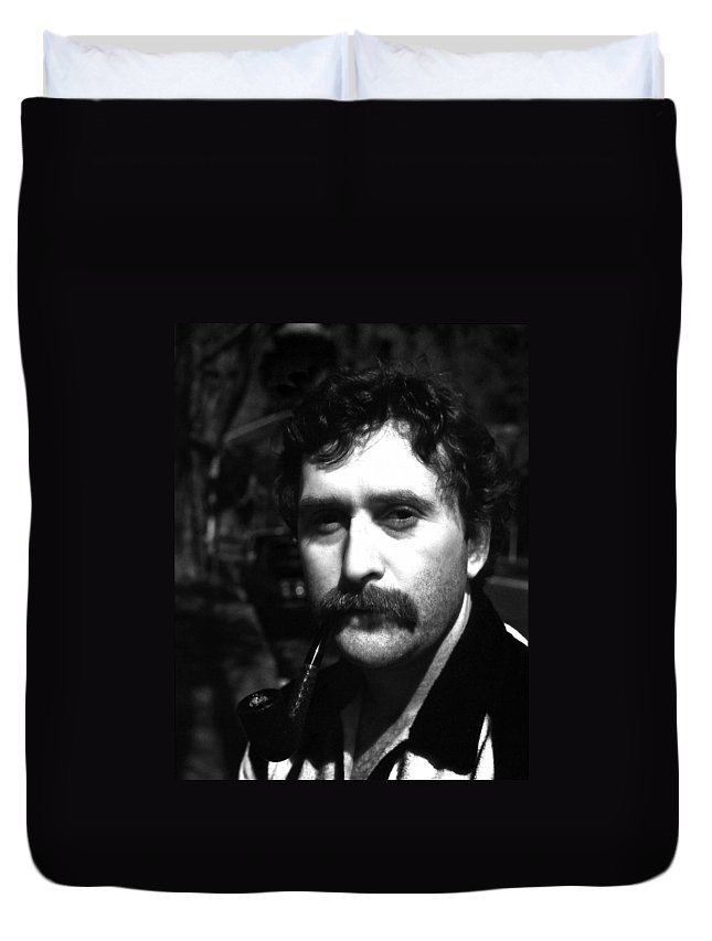 Duvet Cover featuring the photograph Jim by Lee Santa
